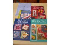 Iris/Teabag Folding Job lot of Craft Books and Papers