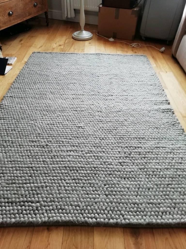 Dunelm Pebble Grey Rug Size 170 X 120