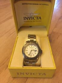 Invicta Pro Diver Unisex Automatic Watch with Silver Dial, Silver Stainless Steel Bracelet