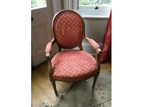 TRADITIONAL FRENCH LOUIS XVI STYLE (FAUTEUIL) ARMCHAIR