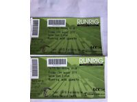 Runrig tickets for Sirling on Friday 17 August pick up in Perth