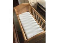 Solid wood Mothercare crib