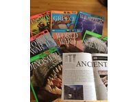 DK Eyewitness set of 7 books and posters. Dinosaurs, WW1, WW2, Insect, Ancient Greece, Scientists,