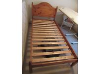 Single Bed, Solid Pine, with headboard