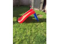 Red and blue slide
