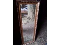 Beautiful large Wall Mirror in Gold Foliate Patterned Frame