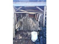"""fence posts 3x3"""" x 5ft new"""