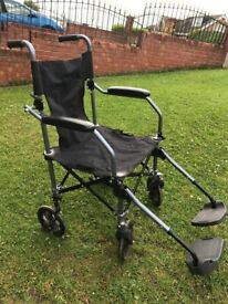 Travel Wheelchair. Fold Up. Lightweight. 115kg Capacity. Good Condition