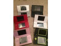Various Nintendo ds lite consoles
