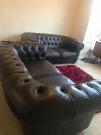 2 Dark brown Sofas