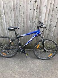 Giant Bike, great bike with multi gear function, selling cheaper as has slight cut in seat