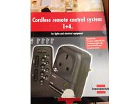 Cordless remote control system for any UK 3 pin plug