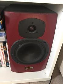 Studio monitoring setup - Tannoy Reveal speakers plus amp