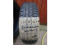 165/65/14 79T Continental Contact 2 tyre with 6-6-6mm