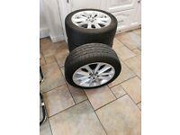 Genuine Seat Ibiza R16 alloys wheels with tires 5x100!