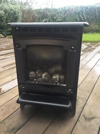 Stove style gas fire
