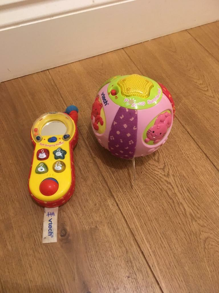 Baby vtech toys- pop up surprise ball and mirror phone