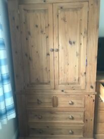 Solid PINE wardrobe reduced to £150