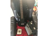 Ibanez guitar, fender amp and zoom 5052 guitar effects pedal