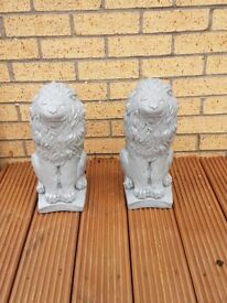 Last Two -Lion Ornaments 16 inch high