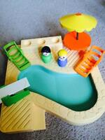 1986 Fisher Price Little People Swimming Pool