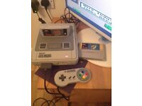 Super Nintendo Console With 2 Games and Controller FULLY WORKING.