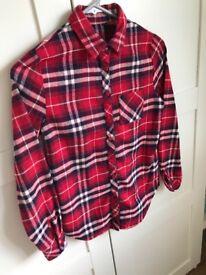 Girls New Look check shirt