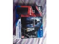 ps4 slim 1tb with box and games