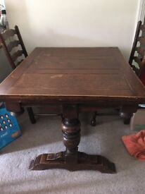 Victorian Solid Oak Dining Table