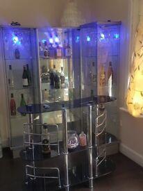 Glass home bar