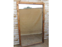 Heavy duty Country wooden mirror XL (Delivery)