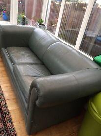 Green sofa and sofa bed