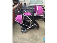 Kids kargo/icandy tandem/twin pushchair travel system
