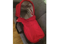 Carrycot for Baby Jogger City Mini - Suitable for Single or Double pushchairs - Crimson