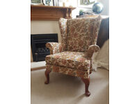 Parker Knoll Penshurst Suite: Wingback 2-Seater Sofa & 3 Armchairs