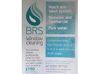 BRS WINDOW CLEANING.... reach and wash system.. 100% reliable. prices from £7•50.