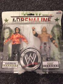 WWE Adrenaline Series 33 Vickie Guerrero & Edge Wrestling Figures Set New!!!