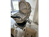 BEBECAR pram with matching baby car seat buggy accessories