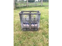 Esso bottles and crate