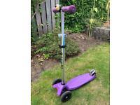 Maxi micro scooter purple VGC