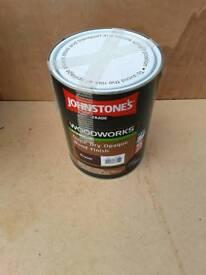 Johnstone Opaque Russet Woodfinish paint