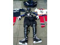 full ice hockey kit uk 9 skates 2x sticks plus kitbag everything you need!