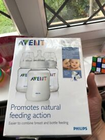 AVENT Baby Bottles 3 x 260 ml - Unopened/boxed