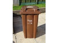 Garden Waste Wheelie Bin - Cornwall Council - 240 litres - Used in good condition
