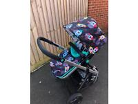 Cosatto Giggle 2 in 'Space racer' complete pram/pushchair/travel system
