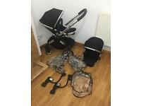 Icandy Peach 2 single / double pushchair with rain covers
