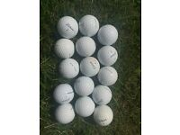 15 used Titleist pro V1 golf balls