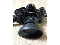 CANON A1 SLR 35mm CAMERA + ACCESSORIES