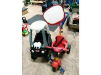Little tikes car and trike.