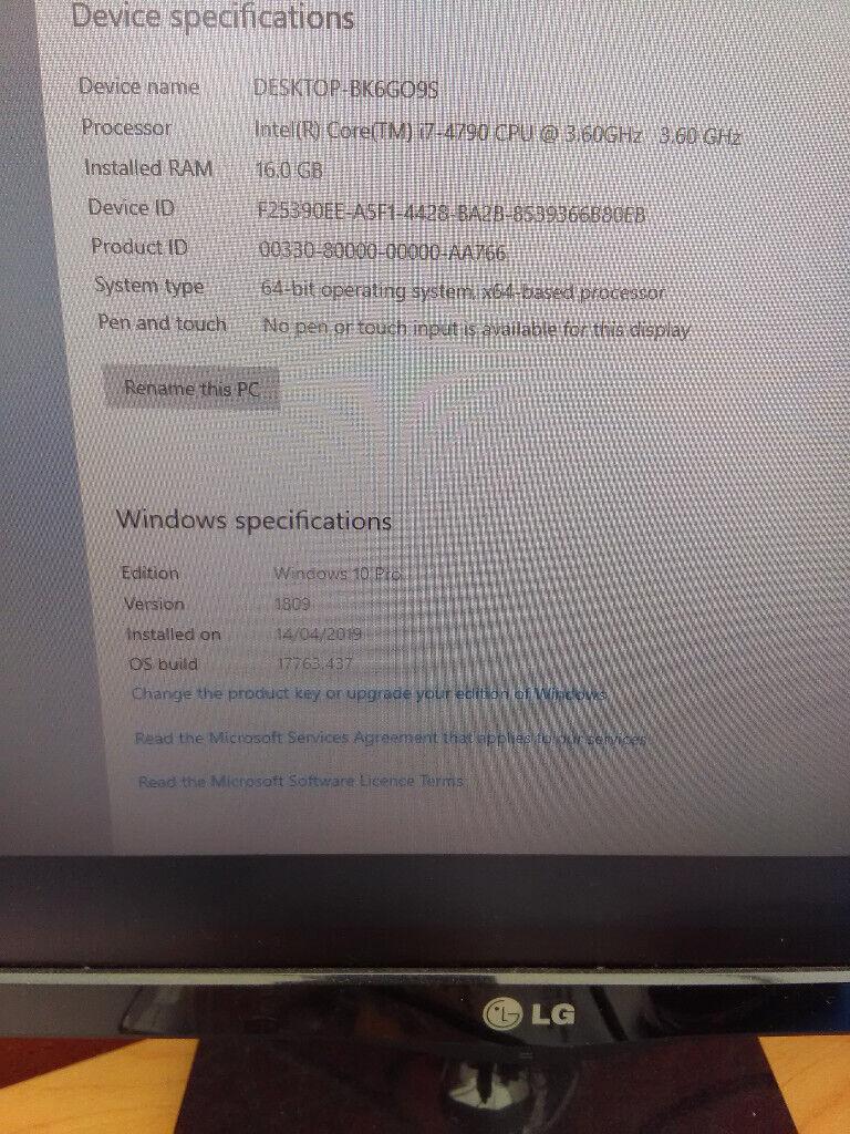 Windows 10 Pro, 480GB SSD, i7, 16GB Ram | in Hull, East Yorkshire | Gumtree